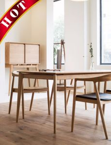 Popular Modern Beech Chair Wooden Dining Room Table Set pictures & photos