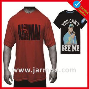 100% Cotton Short Sleeve Silkscreen Print T Shirt pictures & photos