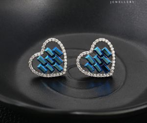92865 Fashion Heart Shape Crystals From Swarovski Jewelry Earring Stud pictures & photos