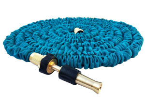 Best Selling on Amazon/Ebay Elastic Hose Blue Lightweight Expandable Garden Hose + 8 Function Spray Nozzle pictures & photos
