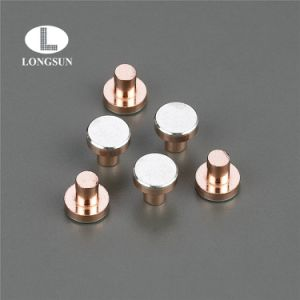 Silver/Copper Composite Rivet Contact Tips Used in Industrial or Power Relays pictures & photos
