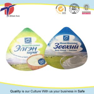Heat Seal Yogurt Cup Aluminium Foil Lids pictures & photos