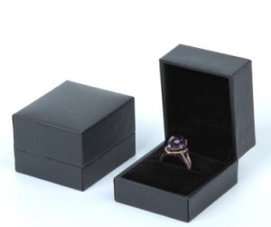 PU Leather Box Flocking Pendant Necklace Bracelet Ring Box Gift Box pictures & photos