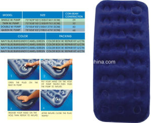Inflatable Airbed /Flocked Air Bed pictures & photos