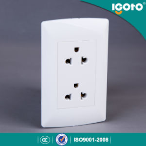 Igoto American Type Double 3 Pin Universal Receptacle Wall Switch Socket pictures & photos