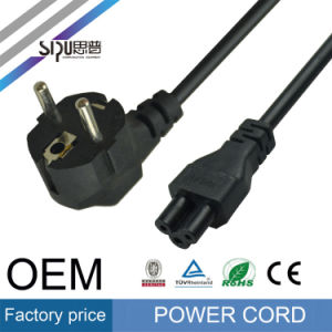 Sipu Hot Sell 3pin Copper EU Power Cord for Laptop pictures & photos