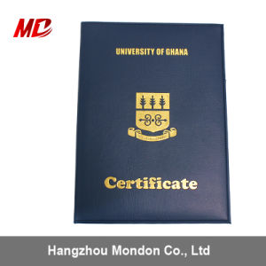 Advanced Graduation Cover Degree Diploma Cover with Flannelette PU Hemming pictures & photos