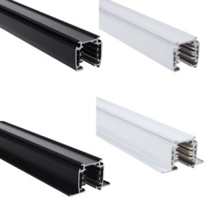 White/Black/Gray Recessed Three Circuits 4 Wires Light Rail (XR-RL410) pictures & photos