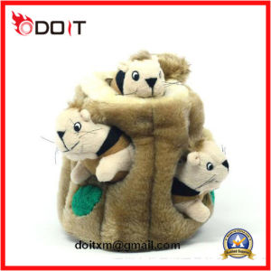 Stuffed Squirrel Toy Set Squirrel Plush Toy with Plush Hole Tree pictures & photos