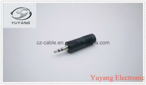 Plastic 3.5mm Stereo Plug to 6.35mm Mono Jack pictures & photos