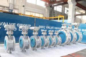 Dbv Triple Eccentric Flanged Industrial Butterfly Valve pictures & photos