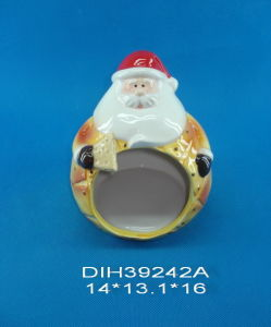 Hand-Painted Ceramic Santa Cookie Holder pictures & photos
