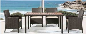 Outdoor Leisure Rattan Table with Chair pictures & photos