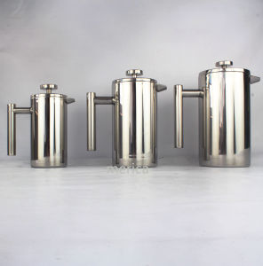 Stainless Steel 304 Double Walls French Press pictures & photos