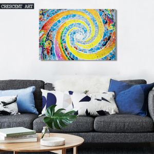 Modern Wall Decor Colorful Spiral Canvas Painting pictures & photos
