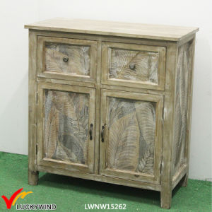 Leaves Printing 4 Drawers Wooden Storage Cabinets pictures & photos