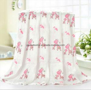 Newborn Baby Muslin Blanket with Pretty Designs pictures & photos