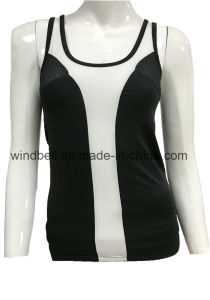 Fashionable Backless Vest for Women with Mesh Fabric pictures & photos