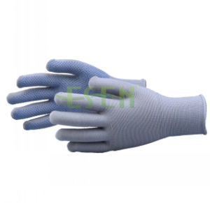 13 Guage Natural White PVC Dots Cotton Kintted Working Gloves pictures & photos