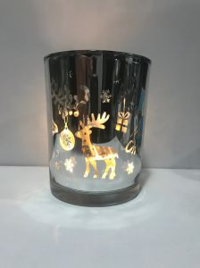 Christmas Decoration Glass Jar Lighting with Silver Star pictures & photos