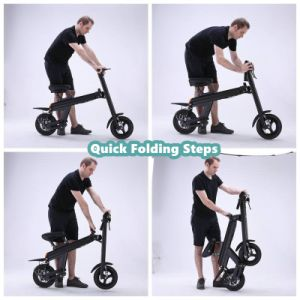250W 500W Folding Electric Bike Convenient Eco E Scooter pictures & photos