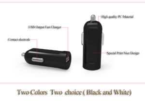 1 USB 1A/2.1A Black and White Color USB Car Charger pictures & photos
