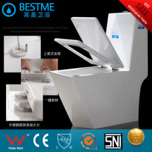Bathroom Siphonic One Piece Ceramic Toilet Seat pictures & photos