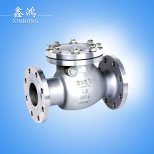 304 Stainless Steel Flange Check Valve H44W-16p Dn15 pictures & photos