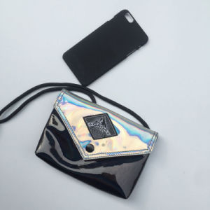 Fashion Silver Black Small PU Women Hand Bag (M009-11) pictures & photos