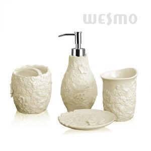 Elegant Embossed Porcelain Bathroom Set (WBC0890C) pictures & photos