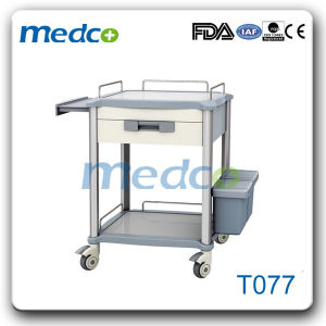 Hospital ABS Medical Instrument Cart Treatment Trolley pictures & photos