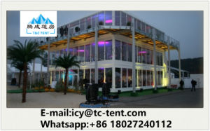 Double Story Party Tent for Outdoor with Glass Sidewall Option pictures & photos