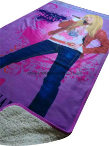 High Quality Digital Printing Used for Car, Sleep, Air Conditioner Blanket Smooth Space Fleece Blanket pictures & photos