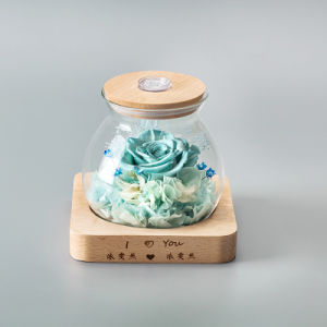Preserved Flower in Glass for Home Decoration pictures & photos
