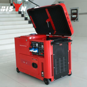 Bison Key Start Silent Type 5kVA Diesel Generator Price pictures & photos