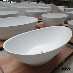 Sanitary Ware Artificial Stone Free Standing Bathtub pictures & photos
