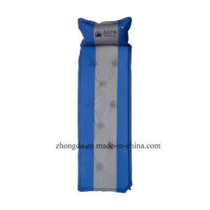 Single Connectable Self Inflating Camping Mattress with Air Pillow for Tent pictures & photos