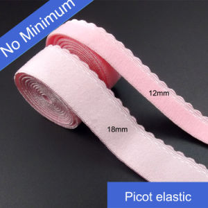 Stock 12mm Pink Elastic Webbing in No Minimum pictures & photos