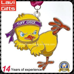 Custom School Yellow Duck Cartoon Figure Souvenir Running Medal pictures & photos