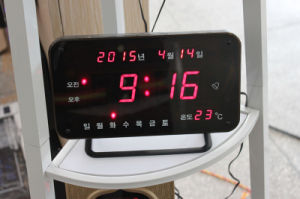 LED Calendar Clock with Year/Day/Date/Temperature pictures & photos