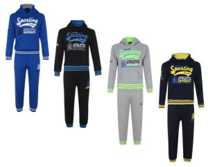 High Quality 100%Polyester Kid′s Sport Tracksuits (A738)
