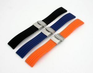 3 Colors Silicone Watch Strap pictures & photos