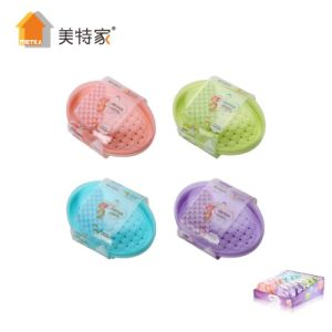 Metka Household Plastic Oval Soap Box Soap Dish for Bathroom pictures & photos