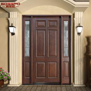 Antique Arts Crafts 1d+2SL Wood Home Exterior Door (GSP1-032) pictures & photos
