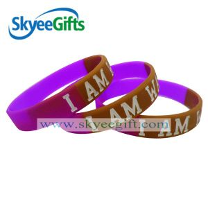 New Design 1/2inch Cheap Custom Any Color Silicone Wristbands pictures & photos