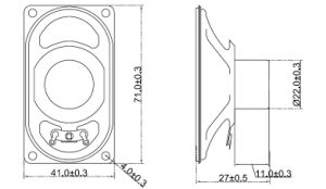 4070mm 4-45ohm 0.5-3W Cloth-Edge Speaker with RoHS pictures & photos