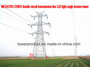 Megatro 220kv Double Circuit Transmission Line Sj2 Light Angle Tension Tower pictures & photos