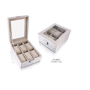 Handmade Square Gift Display Packaging Leather Watch Box/Case with Window & Lock 6xslots pictures & photos