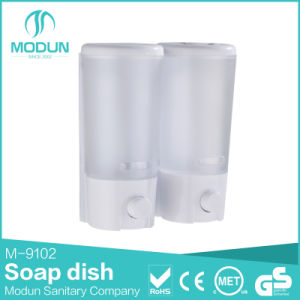Hotel Wall Mount Plastic Double Manual Soap Dispenser pictures & photos