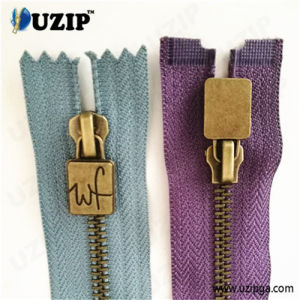 Zipper Suppliers Anti Brass Zipper / Custom Metal Zipper Pulls / High Quality Zippers
